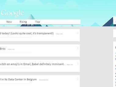 Google Reddit Design