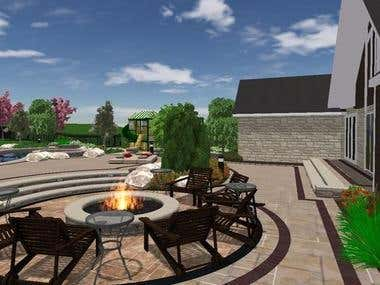 Outdoors 3D Rendering