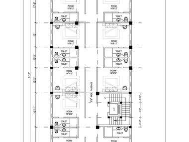 Typical Architectural Floor plan of a residential Building