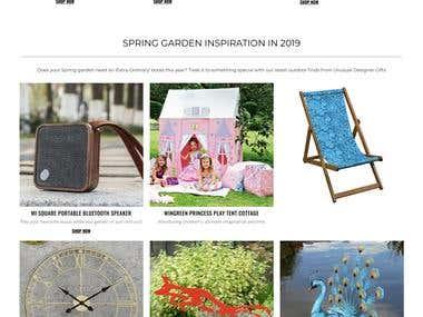 Shopify Website - UNUSUAL DESIGNER GIFTS