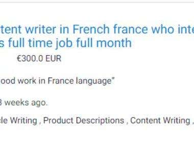FRENCH KEYWORDS RESEARCHER FOR AMAZON