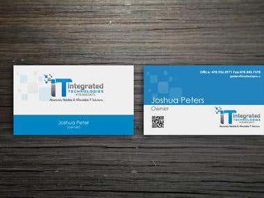 contest business card winning entry