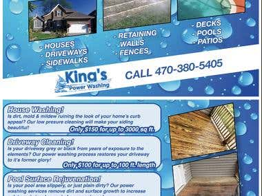 King's Power Washing Poster card