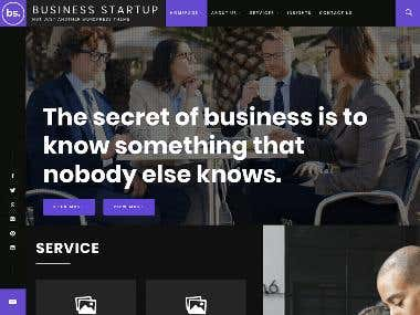 Modern business web site