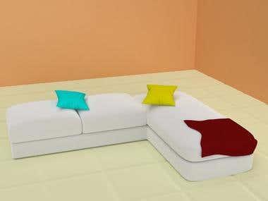 interior sofa scene