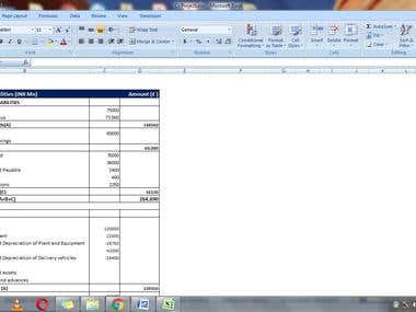 Balance Sheet And Statement of P/L
