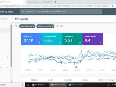 Website Performance in Google
