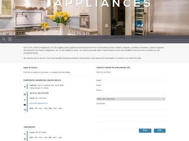 House Of Appliances Agent Page Development