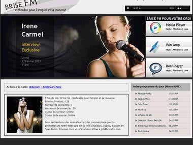Webradio website
