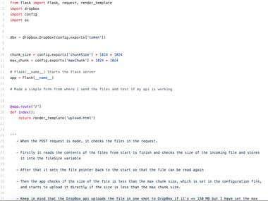 DropBox File Uploader API