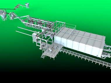 Automated brick production line