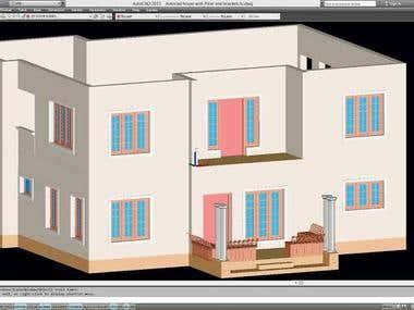 3d architecture home