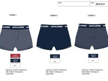 Mens underwear print design