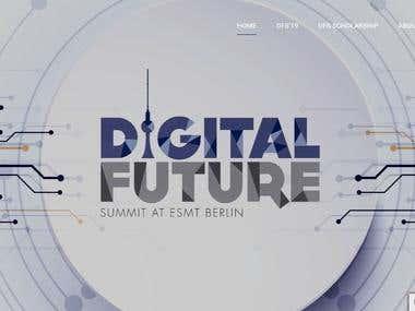 Digital Future Summit by ESMT Berlin Website Customization