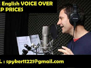 English Voice Over