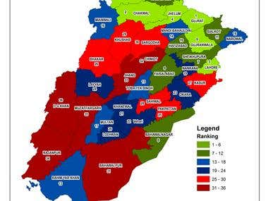 Ranking of Punjab Districts for child protection in Pakistan
