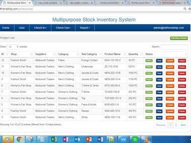 Multipurpose Stock Inventory System Php mysql