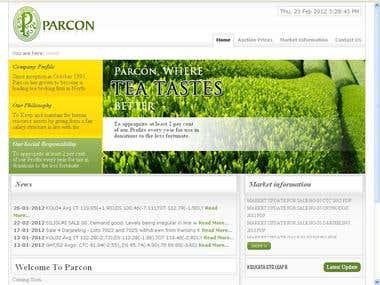 www.parcon-india.com [Tea Auction Project]