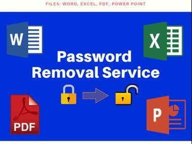 Password Remove From Excel, Word and PDF