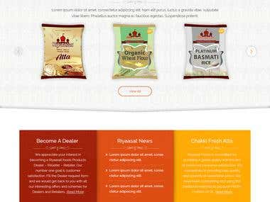 Riyaasat Foods Website Development