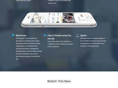 "Landing page for an app ""SkipRoom"""