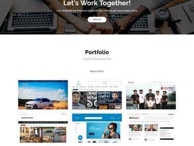 Portfolio Website for branding.