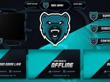 Bear Twitch Overlays