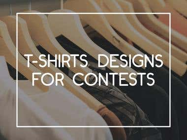 T-shirt designs for contests