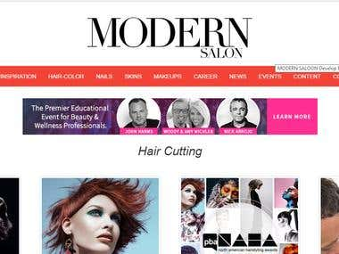 Modern Saloon Website Design