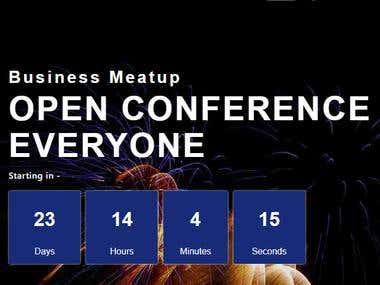 Conference & Event Web Design