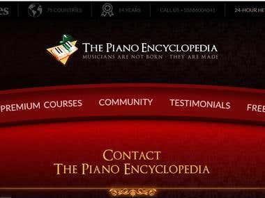 PianoEncyclopedia Web Design