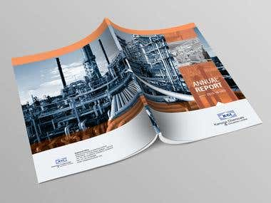 Annual Report designing cover and inside layout