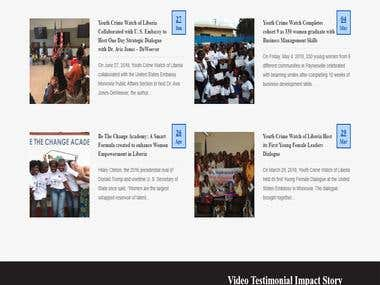 NGO website for NGO Youth Crime Watch of Liberia WEST AFRICA