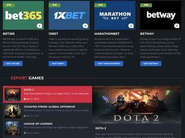 eSports Betting Website