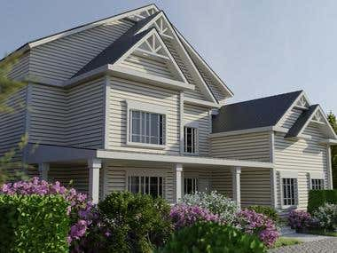 Traditional western exterior-Community House idea