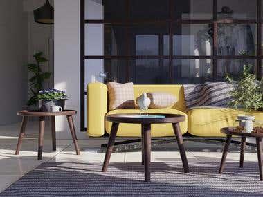 Interior-Living & Sitting Room Combo