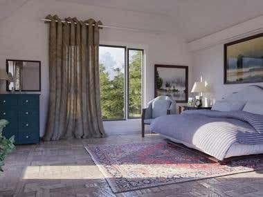 Classical interior-Bedroom
