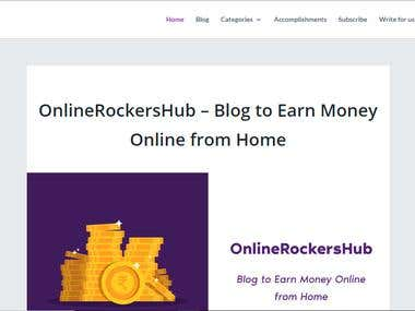 OnlineRockersHub - Blog to Earn Money Online
