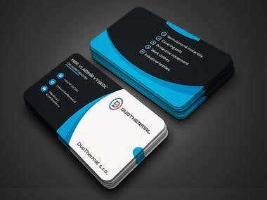 Business Cards for DuoThermal s.r.o. Company