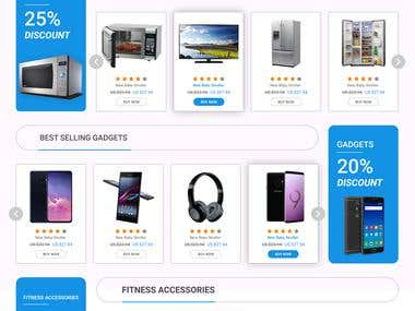 E -Commerce Home Page