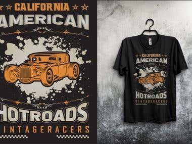 AMERICAN HOT ROADS T-SHIRT