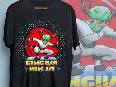 ninja t shirt painting