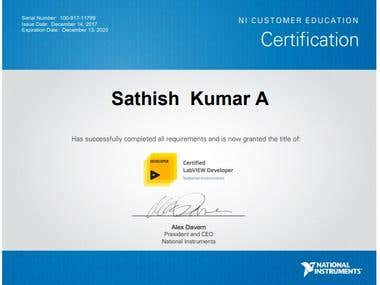 Certified LabVIEW Developer