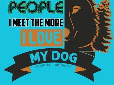 Latest Dog T-shirt Design