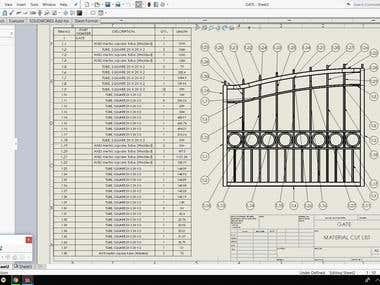 Material CUT LIST of different items using SolidWorks