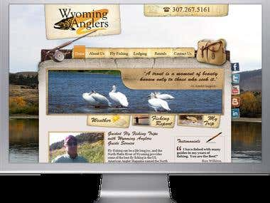 Wyoming Anglers - UI design concept for a fishing website