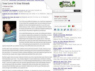 Ezine Article Writer