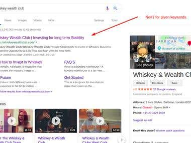 SEO Expert for Ranking No#1 at Google