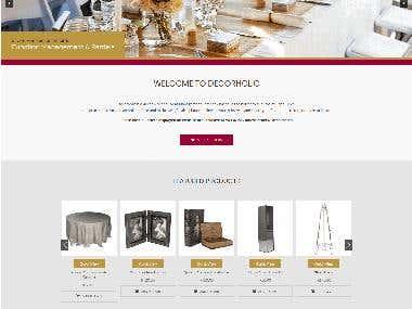 Decorative Ecommerce Website