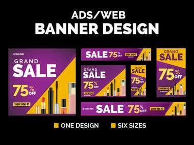 Web Banner Ads Design